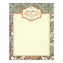 Butterfly Kisses Antique Letter Head 2 Letterhead