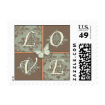 Butterfly Kisses Antique LOVE Stamp 2