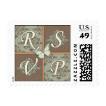 Butterfly Kisses Antique RSVP Stamp 2