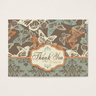 Butterfly Kisses Antique TY Notecard Business Card