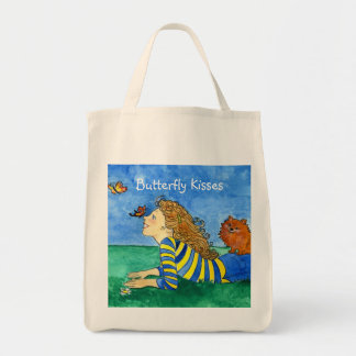 Butterfly Kisses Grocery Tote Bag