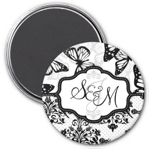 Butterfly Kisses Bold Monogram Magnet 2