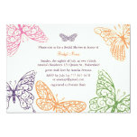 """Butterfly Kisses Bridal Shower Invite ivory 5"""" X 7"""" Invitation Card"""