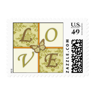 Butterfly Kisses Charming LOVE Stamp