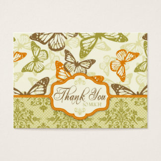 Butterfly Kisses Charming TY Notecard Business Card
