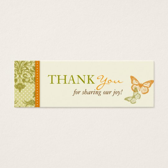 Butterfly Kisses Charming TY Skinny Card