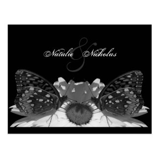 Butterfly Kisses/ Engagement Postcard