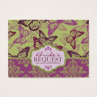 Butterfly Kisses Flirt Business Card