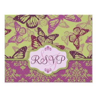 Butterfly Kisses Flirt RSVP Card B2
