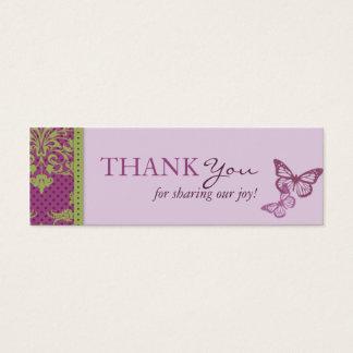 Butterfly Kisses Flirt TY Skinny Card