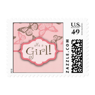 Butterfly Kisses Girl Stamp 2