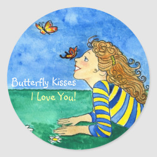 Butterfly Kisses I Love You Sticker