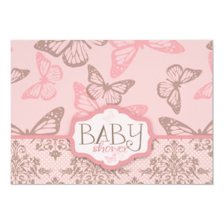 Butterfly Kisses Petal Invitation Card