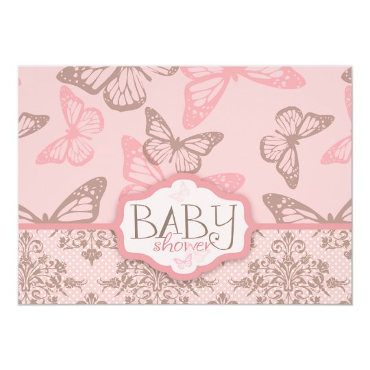 Butterfly Kisses Petal Invitation Card