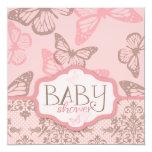 Butterfly Kisses Petal Invitation Square_tash82 13 Cm X 13 Cm Square Invitation Card
