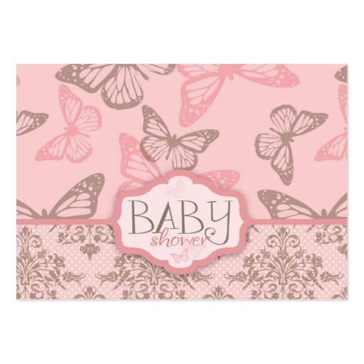 Butterfly Kisses Petal Reminder Notecard Business Cards
