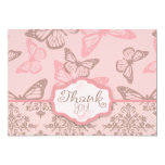 Butterfly Kisses Petal TY Card 2 Invitations