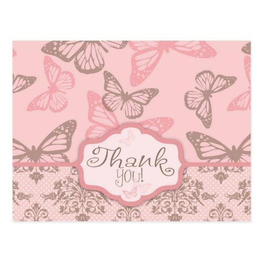 Butterfly Kisses Petal TY Postcard