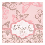 Butterfly Kisses Petal TY Square Invites