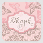 Butterfly Kisses Petal TY Square Sticker