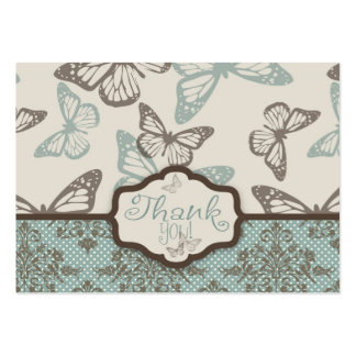 Butterfly Kisses Retro TY Gift Tag Large Business Cards (Pack Of 100)