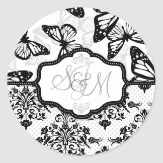 Butterfly Kisses Sticker_DrMullins Classic Round Sticker
