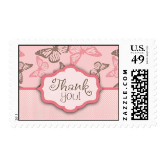 Butterfly Kisses Thank You Stamp