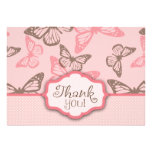 Butterfly Kisses TY Card 2 Pink Announcements