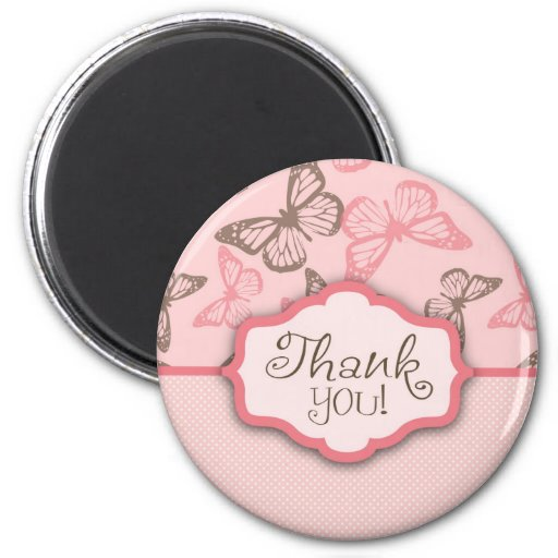 Butterfly Kisses TY Magnet Pink
