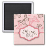 Butterfly Kisses TY Magnet Sq Pink