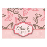 Butterfly Kisses TY Notecard Pink Business Cards