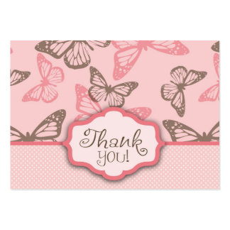 Butterfly Kisses TY Notecard Pink Large Business Card