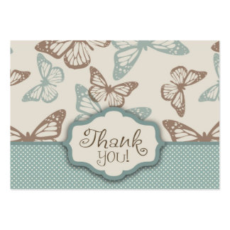 Butterfly Kisses TY Notecard Teal Large Business Card