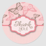 Butterfly Kisses TY Sticker Pink