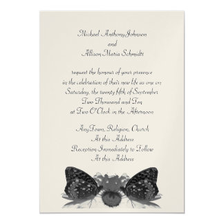 Butterfly Kisses Wedding Card