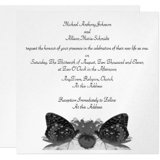 Butterfly Kisses/ Wedding Card