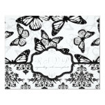 Butterfly Kisses Wedding RSVP Card_DrMullins 4.25x5.5 Paper Invitation Card