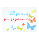 Butterfly Kisses Will You Be Junior Bridesmaid Card