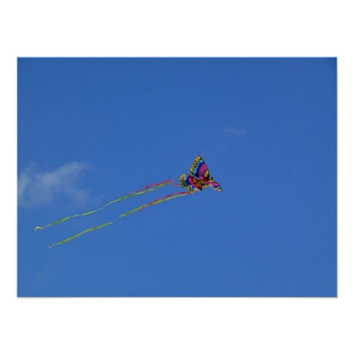 Butterfly kite Poster