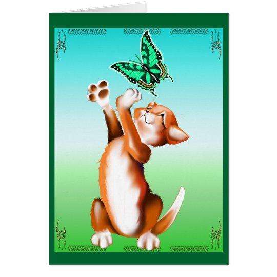 Butterfly Kitten Card