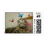 Butterfly kitty postage