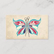 butterfly knitting needles knitter business card