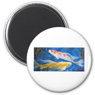 Butterfly Koi 2 Inch Round Magnet