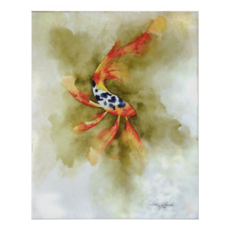 Butterfly Koi Fish Print