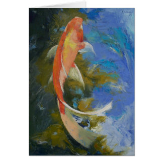 Butterfly Koi Painting Card