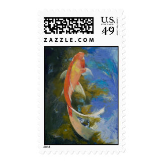 Butterfly Koi Painting Stamp