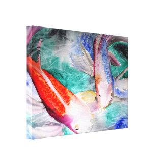 Japanese koi wrapped canvas prints zazzle for Koi prints canvas