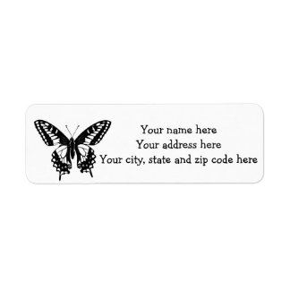 Butterfly Label