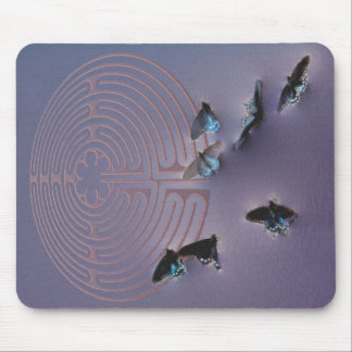Butterfly Labyrinth Mouse Pads