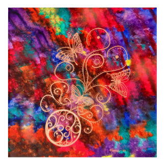 Butterfly Lace (Square) Acrylic Wall Art